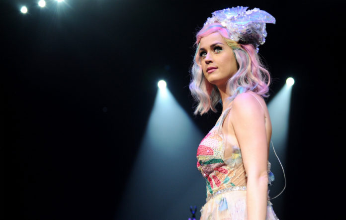 Katy Perry performing on her Prismatic world tour in 2014