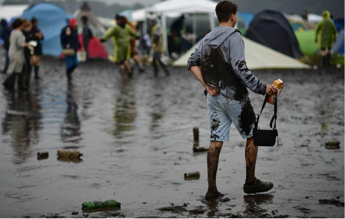 A muddy festival