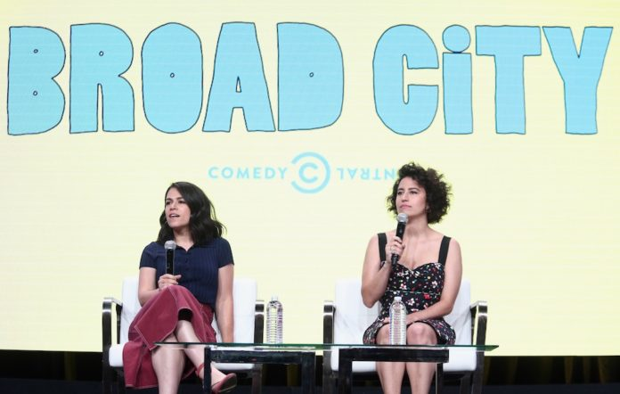 Abbi Jacobson and Ilana Glazer of the series 'Broad City' speak onstage during the Comedy Central/Viacom portion of the 2017 Summer Television Critics Association Press Tour