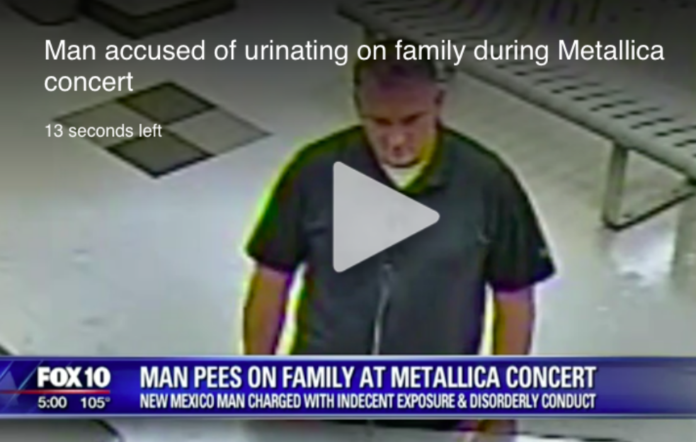 Man arrested for urinating on family at Metallica gig