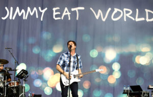 Jimmy Eat World's Jim Adkins gets the Reading crowd on his side