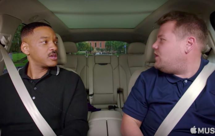 Will Smith and James Corden on Carpool Karaoke