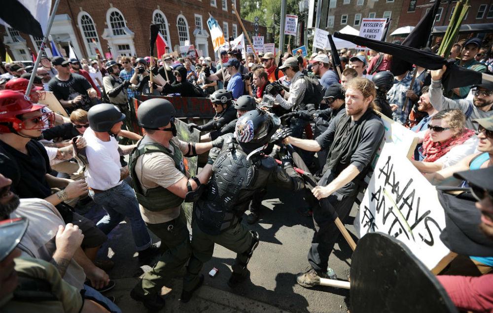 Bille Joe Armstrong Charlottesville attacks
