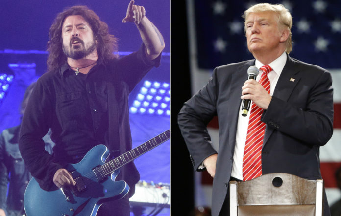 Dave Grohl and Donald Trump