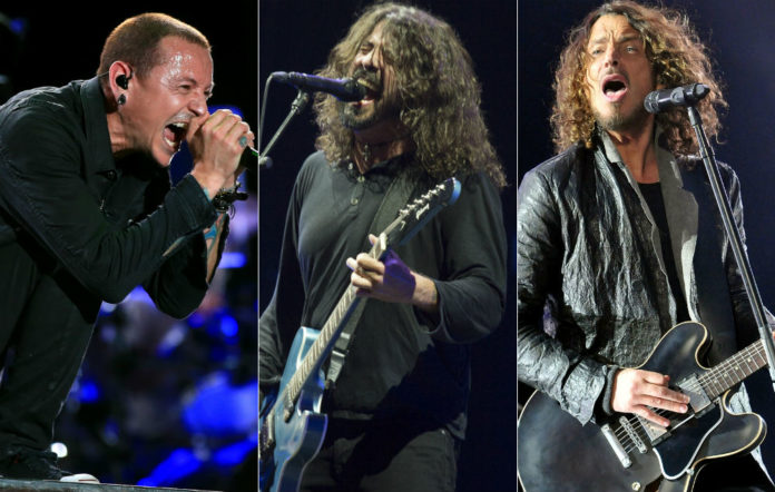 Chester Bennington, Dave Grohl and Chris Cornell