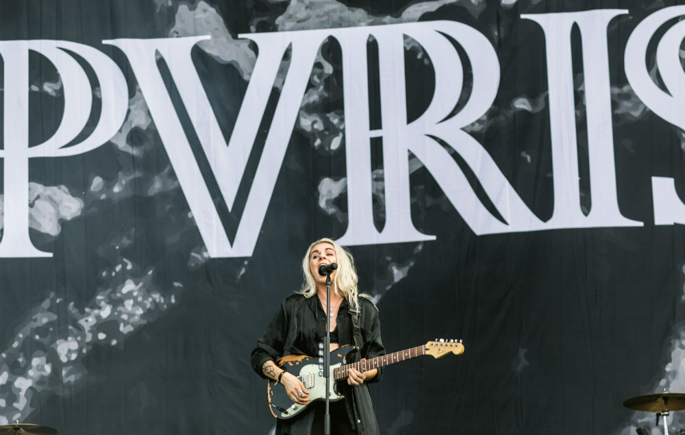 Pvris' Lynn Gunn rocks the main stage at Reading on Saturday afternoon