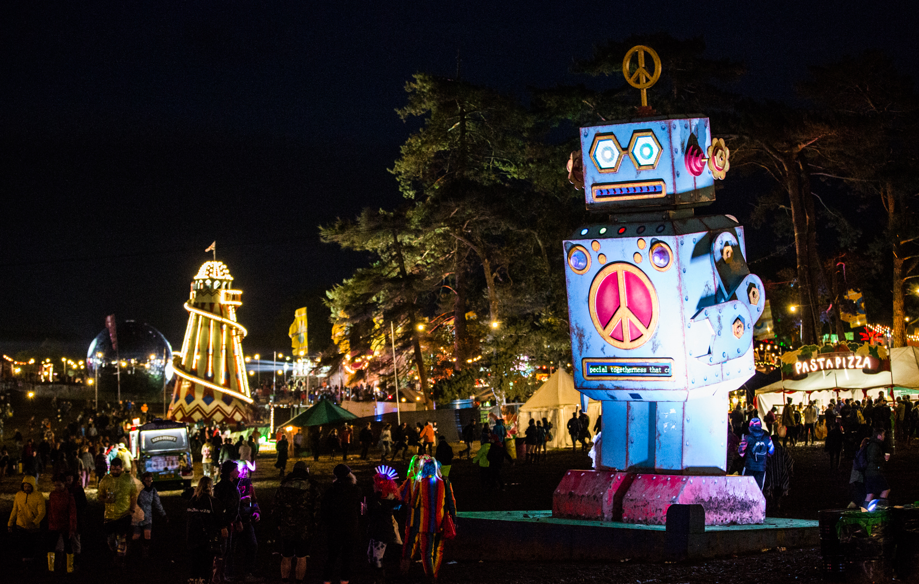 Bestival's famous Lovebot was back once more to bring the good vibes