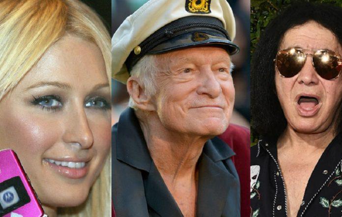 Paris Hilton, Hugh Hefner and Paris Hilton