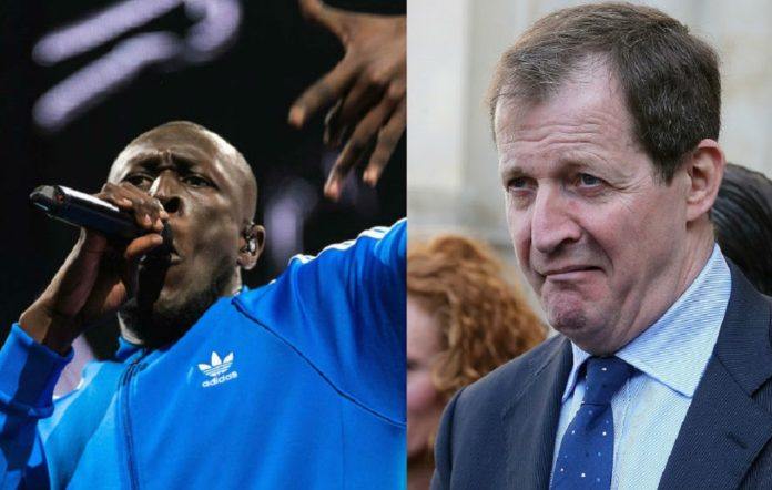Stormzy and Alastair Campbell