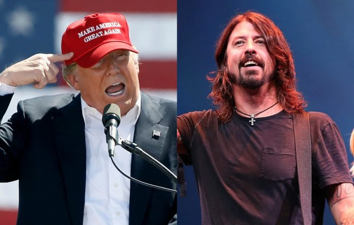 Donald Trump and Foo Fighters' Dave Grohl