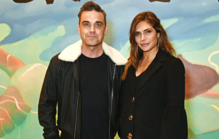 Robbie Williams and wife Ayda Field Williams