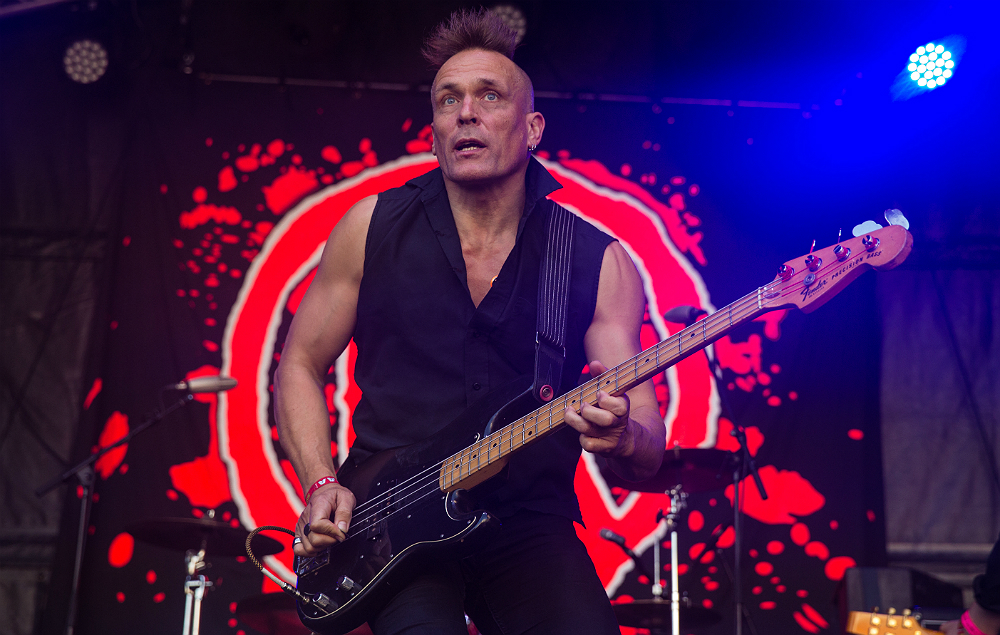 John Robb on stage with The Membranes