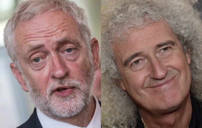 Jeremy Corbyn and Brian May
