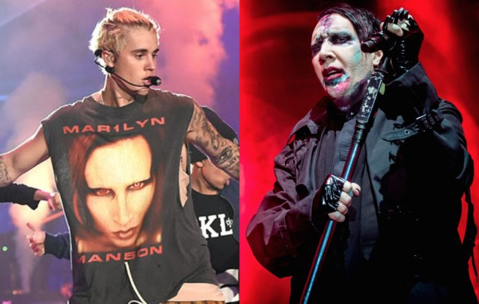 Justin Bieber and Marilyn Manson