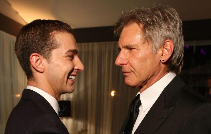 Shia LaBeouf and Harrison Ford
