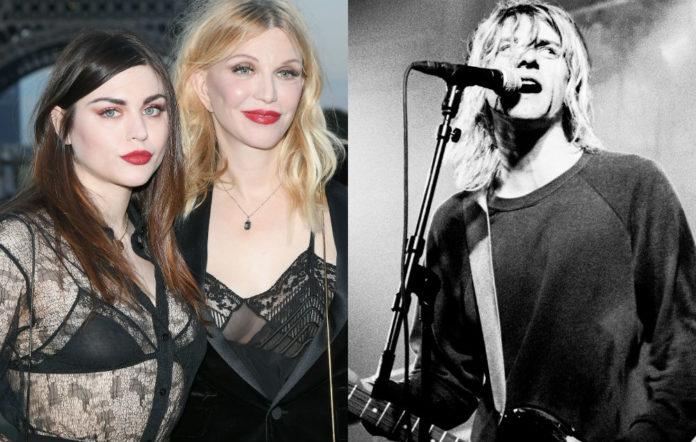 Frances Bean, Courtney Love and Kurt Cobain