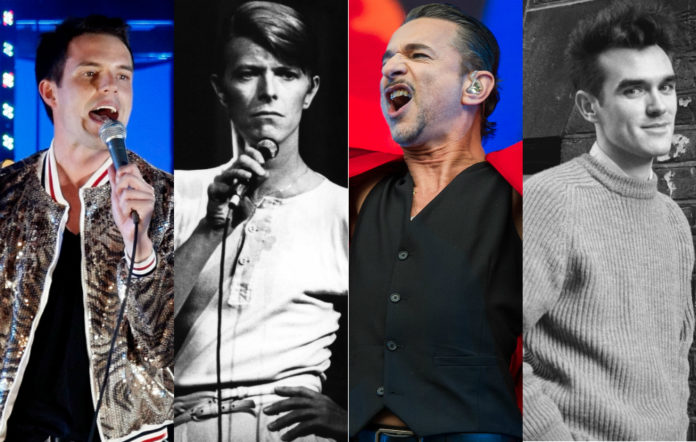 Brandon Flowers, David Bowie, Dave Gahan and Morrissey