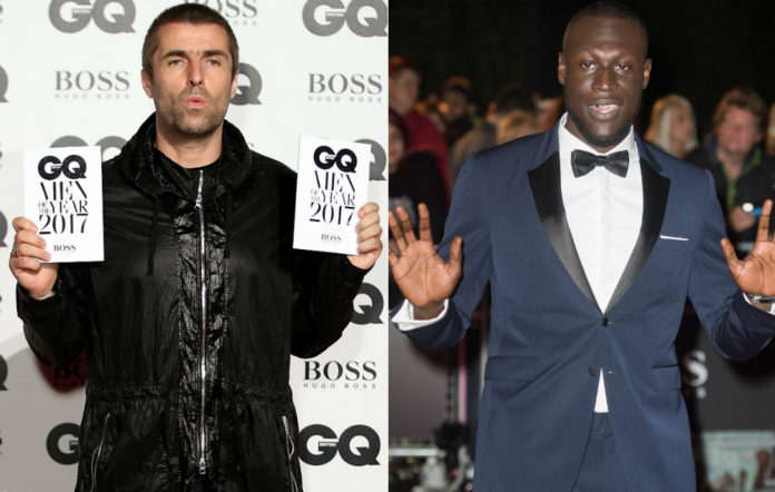 Liam Gallagher and Stormzy at the GQ Awards 2017