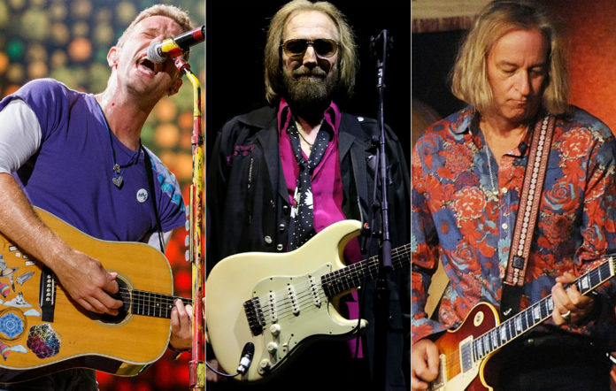 Chris Martin, Tom Petty and Peter Buck