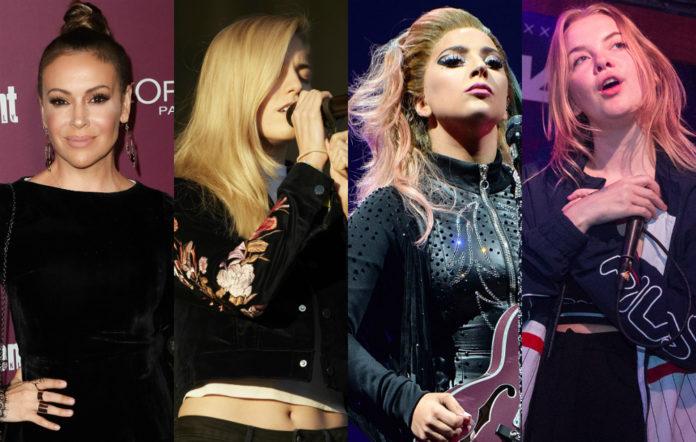 Alyssa Milano, London Grammar's Hannah Reid, Lady Gaga and Dream Wife's Rakel Mjoll