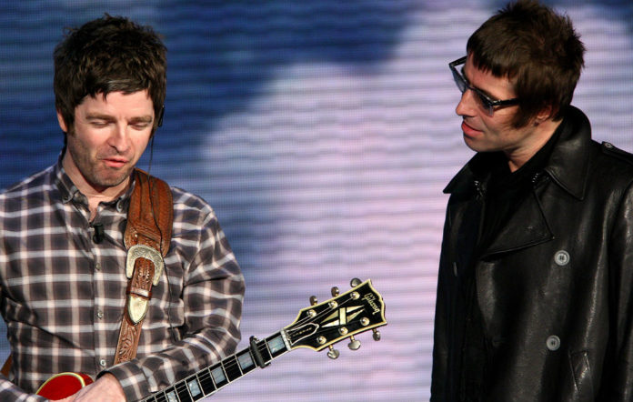 Noel and Liam Gallagher in Oasis