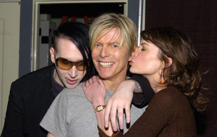 Marilyn Manson, David Bowie and Lara Flynn Boyle