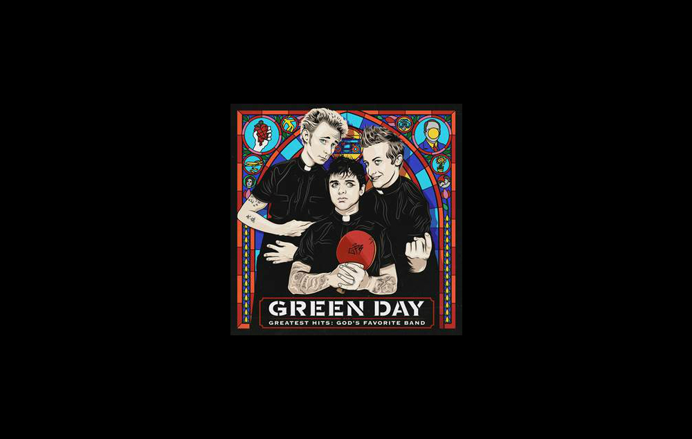 Green Day's artwork for 'God's Favourite Band'