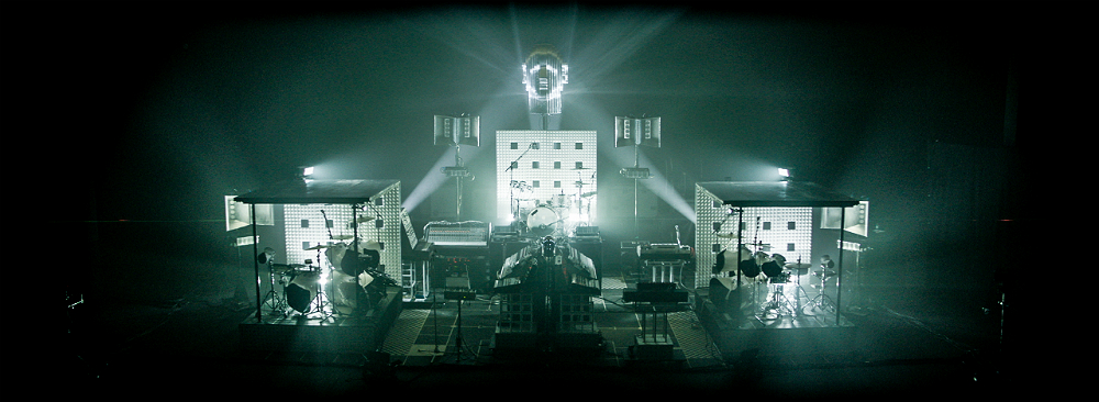 The set-up for Soulwax's tour