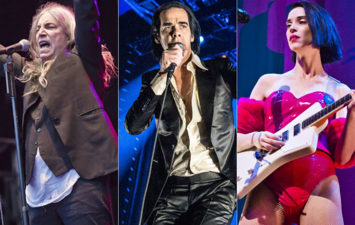 Patti Smith, Nick Cave and St Vincent