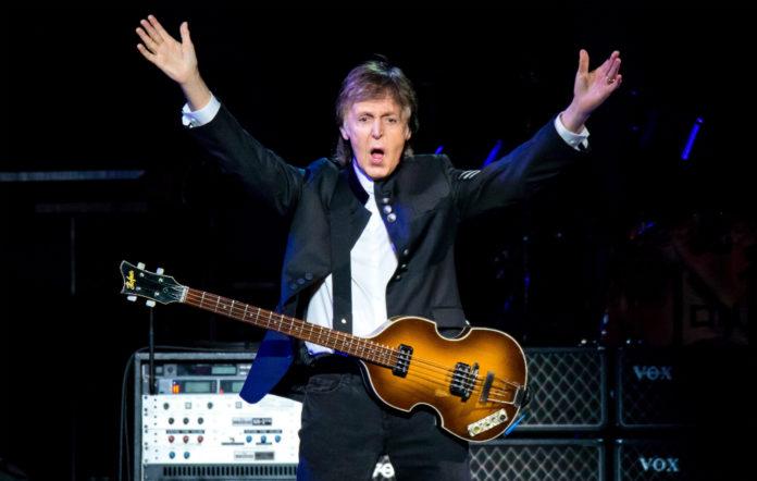 Paul McCartney in concert in Detroit, Michigan in October 2017