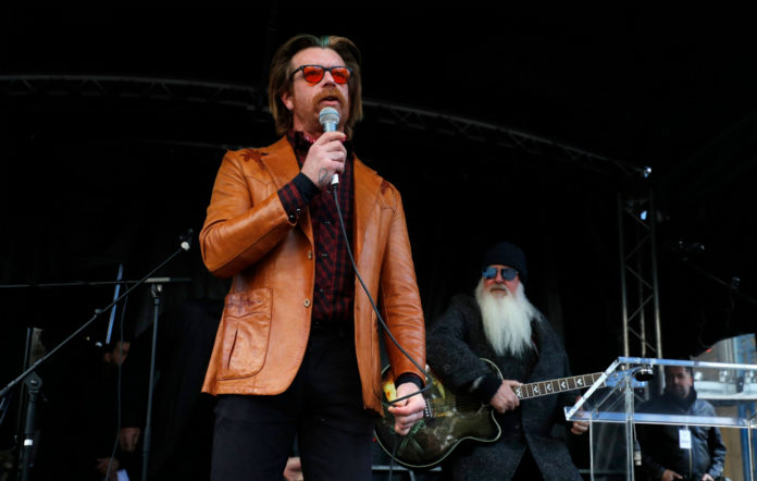 Jesse Hughes and Dave Catching of Eagles of Death Metal