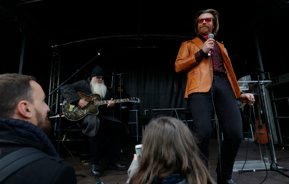 Dave Catching and Jesse Hughes performed two of the band's songs