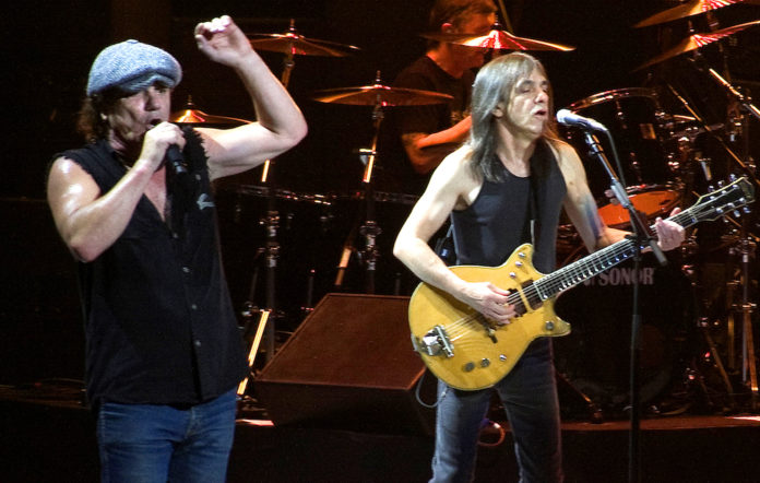 Brian Johnson and Malcolm Young