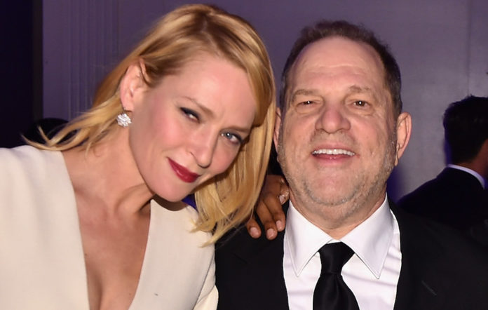 Uma Thurman and Harvey Weinstein in 2016