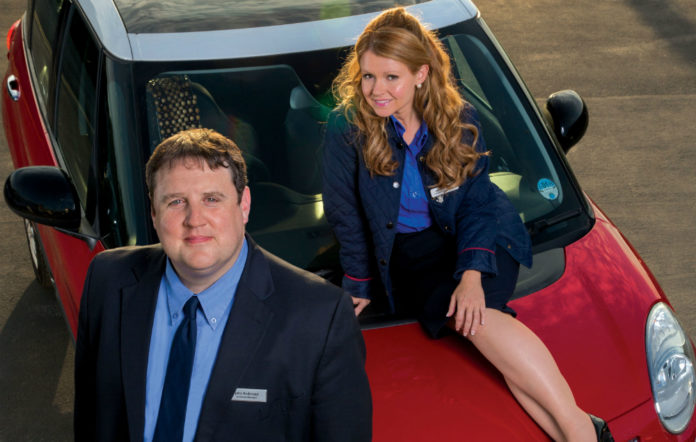 Peter Kay and Sian Gibson in 'Car Share'