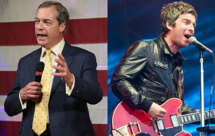 Nigel Farage and Noel Gallagher