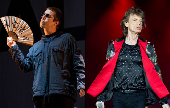 Liam Gallagher and Mick Jagger