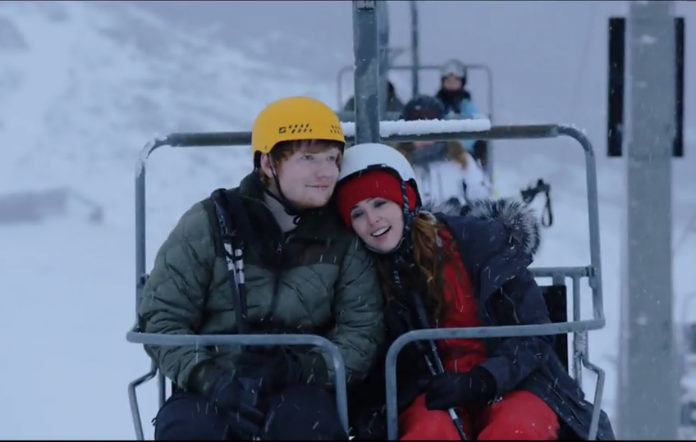 Ed Sheeran and Zoey Deutch in the video for 'Perfect'