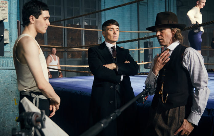 Jack Rowan with Cillian Murphy in 'Peaky Blinders'