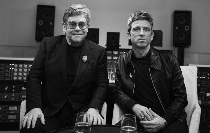 Elton John and Noel Gallagher