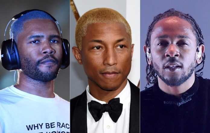 Frank Ocean, Pharrell Williams and Kendrick Lamar