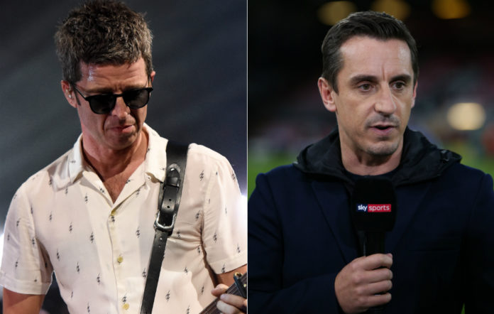 Noel Gallagher and Gary Neville