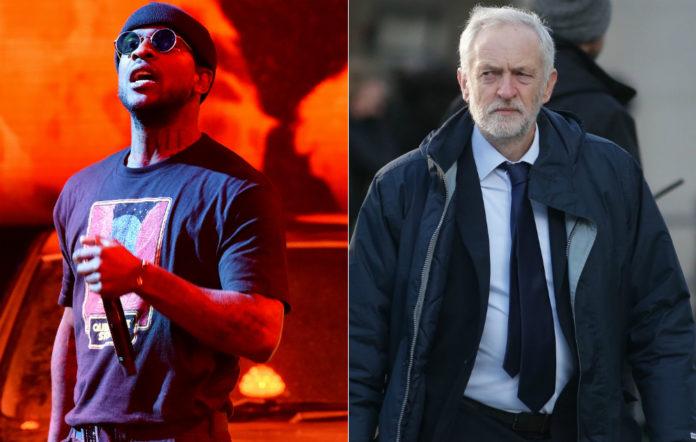 Skepta and Jeremy Corbyn