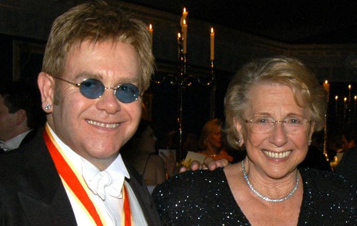 Elton John and his mother Sheila Farebrother
