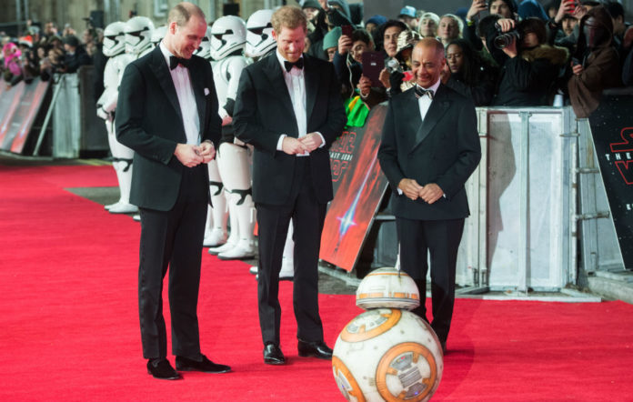 BB-8 Prince William and Prince Harry