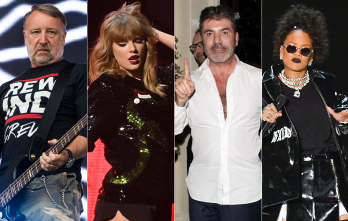 Peter Hook, Taylor Swift, Simon Cowell and Rihanna