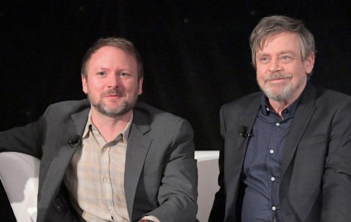 Director Rian Johnson and Mark Hamill