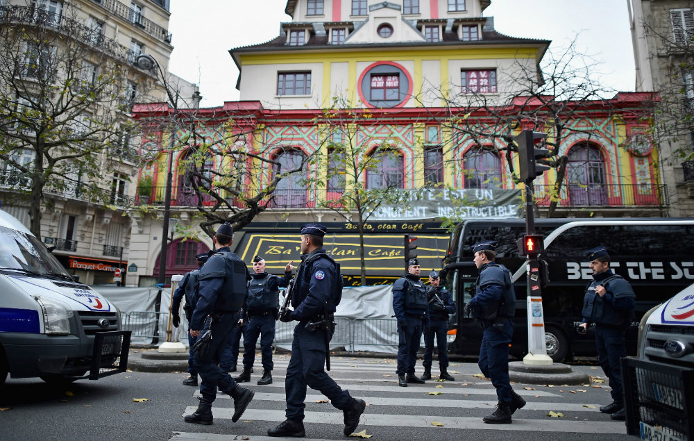 The Bataclan in Paris after the terrorist attacks in 2015