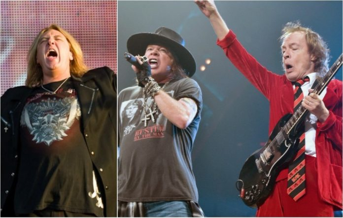 Def Leppard and AC/DC with Axl Rose