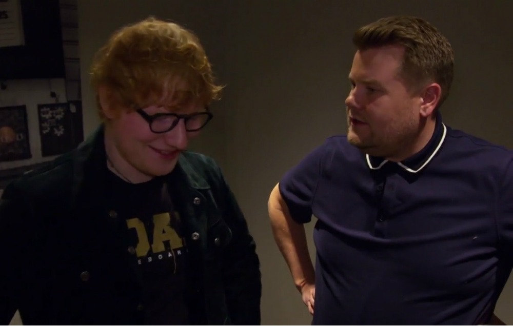 Ed Sheeran and James Corden on The Late Late Show